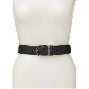 MK Black Buckle Reversible Belt